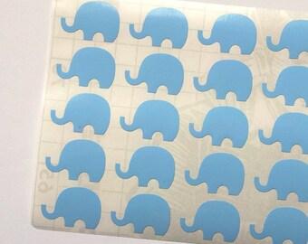 40 Blue Elephant Stickers, Blue Elephant Planner Stickers, Blue Elephant Envelope Seal, Party Stickers, Wedding Stickers, Birthday Stickers