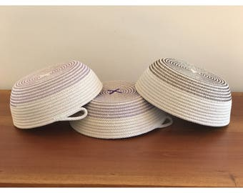 Medium cotton rope bowl - storage - home decor - handmade - organisation