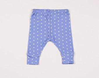 Blue Polka Dot Toddler Leggings