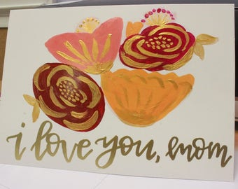 Love You Mom - Valentine's Day Card