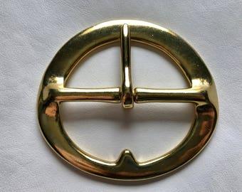 Heavy Solid Brass Cinch Buckle