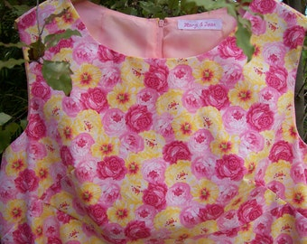 Size 18 Retro 60's Style Flower Dress