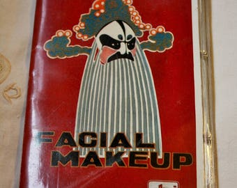 Set of Photographic Slides in Souvenir Sleeve Showing Chinese Beijing Opera Facial Makeup1980s