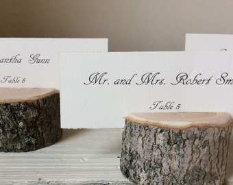 Escort nom carte détenteurs de la carte - rustique Chic - mariage - Woodland variété - lot de 20