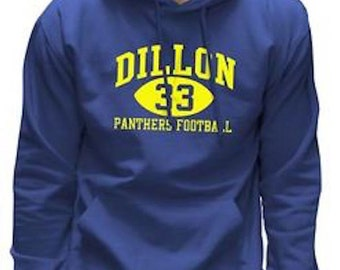 Unisex Dillon Panthers 33 Friday Night Lights Tim Riggins American USA Men & Women Hoody Hoodie - Royal Blue - Black -