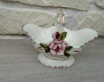 Vintage porcelain basket decoration
