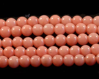 real coral salmon pink 4 mm 20 beads