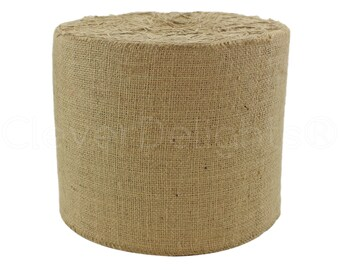 """100 Yards - 9"""" Natural Burlap Roll - Industrial Grade - Unfinished Edges - Eco-Friendly Natural Jute Burlap Fabric - Tight Weave - 9 Inch"""