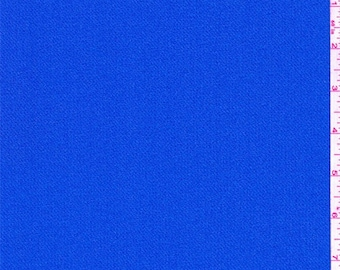 Bright Marine Blue Crepe, Fabric By The Yard