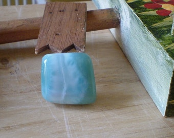 Larimar Cabochon Rare Caribbean gemstone