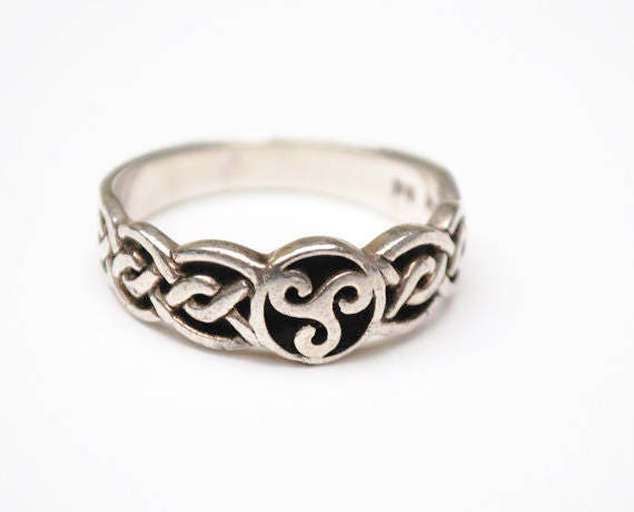 Sterling Celtic Ring -Size 11  Irish Knot Sterling band ring