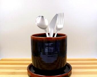 kitchen holder - Toothbrushes holder - Ceramic Utensil holder - ceramic cup- ceramic dryer