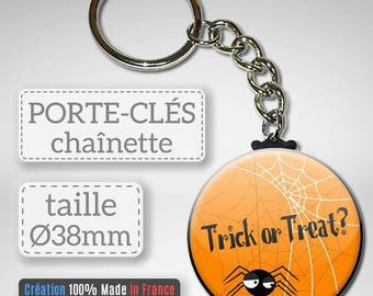 Key Halloween Trick or Treat candy or spider prank gift party 38 mm Badge