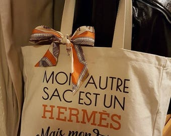 My other bag tote bag is Hermes, but my twilly prefer my tote bag!