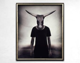 Animal Print, Animal Art, Photo Print, Animals In Clothes, Dark Art, Weird Prints, Photo Art, Strange Art, Anthropomorphic Print, Home Decor