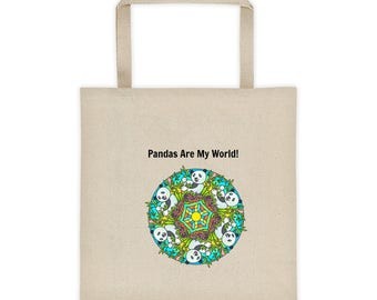 Pandas Are My World Panda Bear Tote Bag