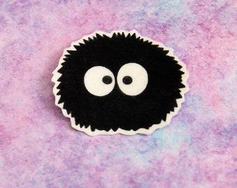 Totoro Soot Sprite Iron On Patch MTCoffinz