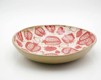 Ceramic serving bowl, Decorative bowls, 9th anniversary gift, Housewarming gift, salad bowl, Serving dishes, pottery bowls, Handmade gifts