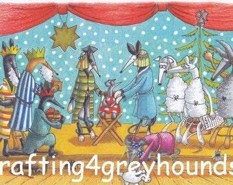 Greyhound & Galgo Christmas Cards Set 1
