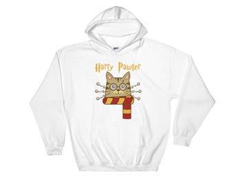 Harry Pawter Cute Cat Potter Hooded Sweatshirt