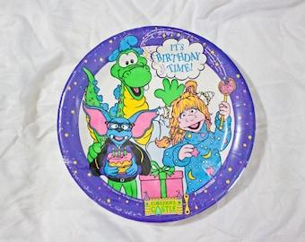 1991 Eureeka's Castle Birthday plates - Vintage unopened party ware - Nickelodeon MTV networks