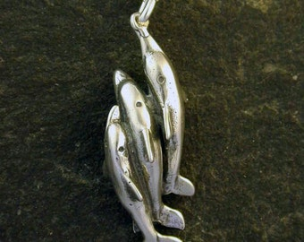 Sterling Silver Dolphin Pendant on a Sterling Silver Chain