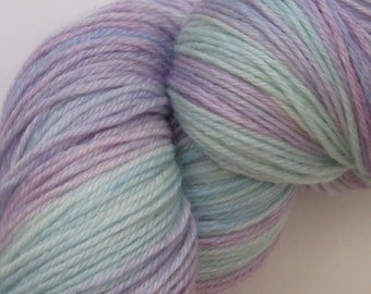 Superwash merino and bamboo blend yarn 100g skein in Magical colourway hand dyed knitting wool