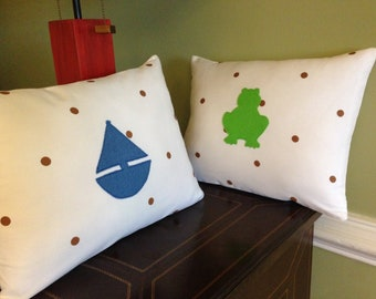 FROG or BOAT PILLOW