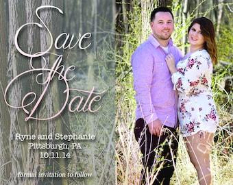 Save The Date Cursive