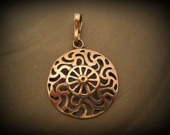 Bronze Prussian Sun symbol