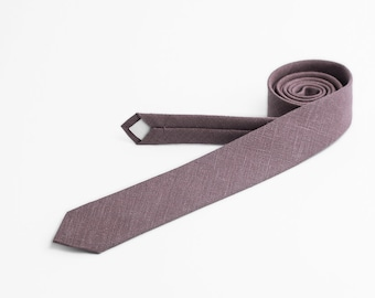 Dusty mauve necktie - MADE TO ORDER