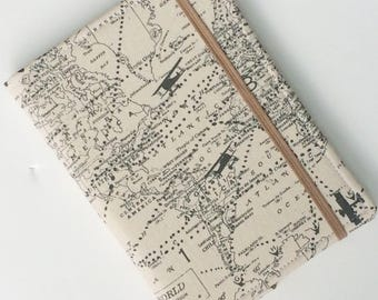 Kindle Paperwhite cover, Nook Glowlight Case, all sizes, World Map Airplane Tablet hardcover Cover