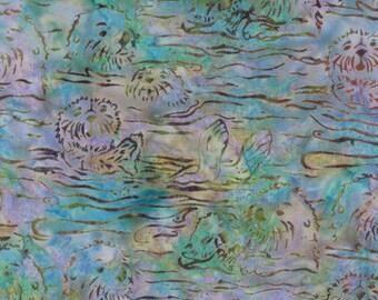 Hoffman Fabrics Paradise Purple Blue Otter Bali Batik Fabric H2281-512-Paradise