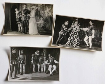 3 old photos -actors - theater .