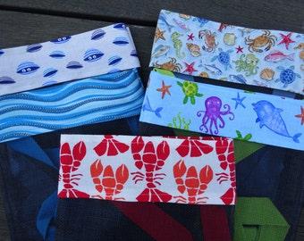 Beachcomber Bag, Shell Collecting Bag #7