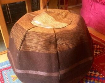 Handmade Moroccan brown pouffe/footstool/beanbag