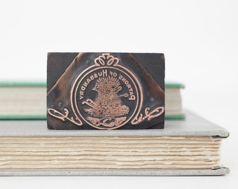 Vintage Patrons of Husbandry National Grange Letterpress Printers Stamp, Printer Block Stamp, Letterpress Stamp, Empire Type Foundry NY