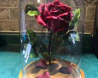 Engraved Beauty and the Beast Rose (Large)