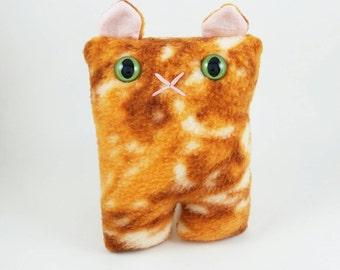 Tie Dye Orange Cat Nubbin - Made To Order