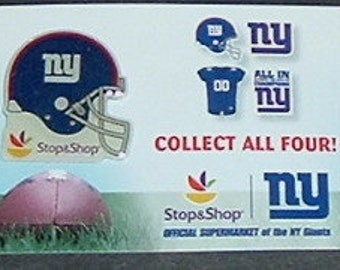 NEW YORK GINATS Helmet Pin Back (Stop & Shop)