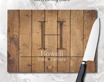 Personalized Cutting Board, Cutting Board, Wedding Gift, Glass Cutting Board, Anniversary Gift, Housewarming Gift, Kitchen Decor