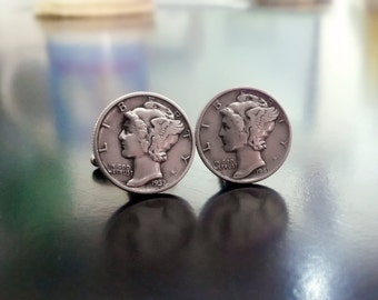 Clufflinks mercury dimes for Weddings or any formal event.