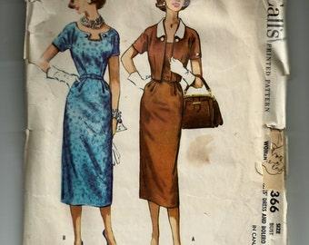 McCall's Misses' Dress and Bolero Pattern 4366