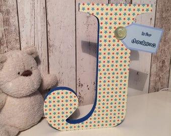 Jumbo wooden letters nursery decor
