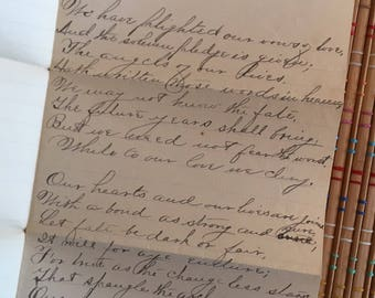 Love Poem: Hand Written in Script, c 1885--Sweetest Thing Ever!