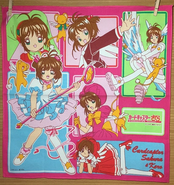 Vintage Kid's Handkerchief Cardcaptor Sakura Japan Anime Manga Series by Etsy