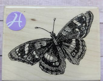 Butterfly Wood Mounted Rubber Stamp Scrapbooking & Paper Craft Supplies