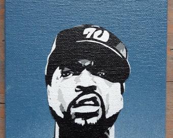 Ice Cube Stencil Art