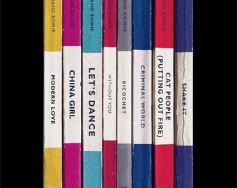David Bowie 'Let's Dance' Album As Penguin Books Poster Literary Music Print