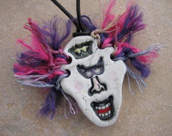 Whimsical Queen Essential Oil Pendant, Ceramic Face Pendant, Kid's Perfume Pendant, Aromatherapy